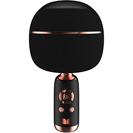 V3, black TOSING V3 Karaoke Microphones,Bluetooth Microphone Wireless 3-in-1 Portable Handheld Karaoke Mic Duet,Chorus,Voice Changer,For a Variety of Smartphones Tablets Smart TVs. Computers