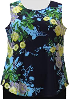 a04f9d85df5127 A Personal Touch Navy Floral Women s Plus Size Tank Top