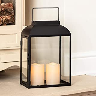 metal lantern with 3 led candles