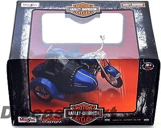 MWDx102 03175 Harley Davidson 1952 FL Hydra Glide w Side CAR Motorcycle 1:18 Blue