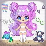 Juegos de vestir muñecas Chibi para niñas