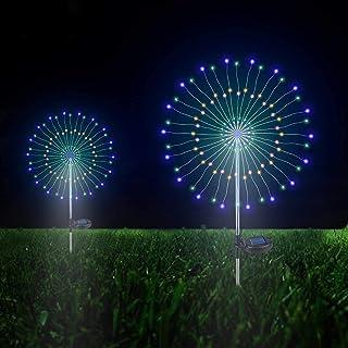 Outdoor Solar Garden Decorative Lights- 105 LED Powered 35 Copper Wires String Landscape Light-DIY Flowers Fireworks Trees...