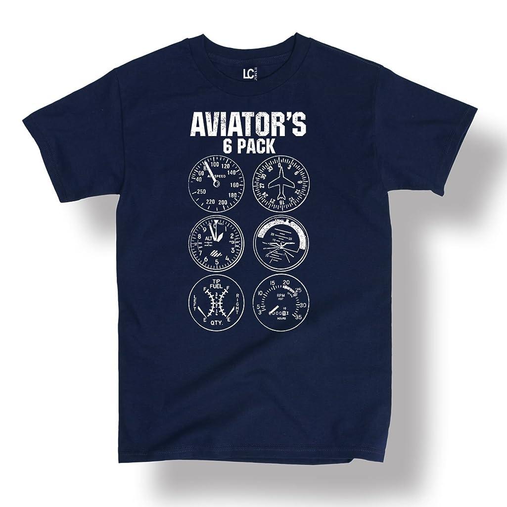 Aviator Six Pack Funny Pilot Travel Humor Vacation Flight Novelty-Mens T-Shirt
