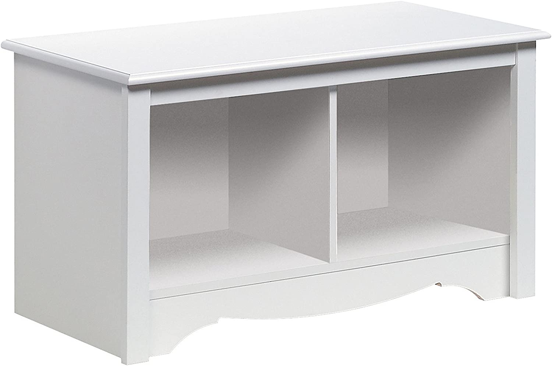 Prepac WSC-3620 Monterey Twin Cubbie Bench, Small (White)