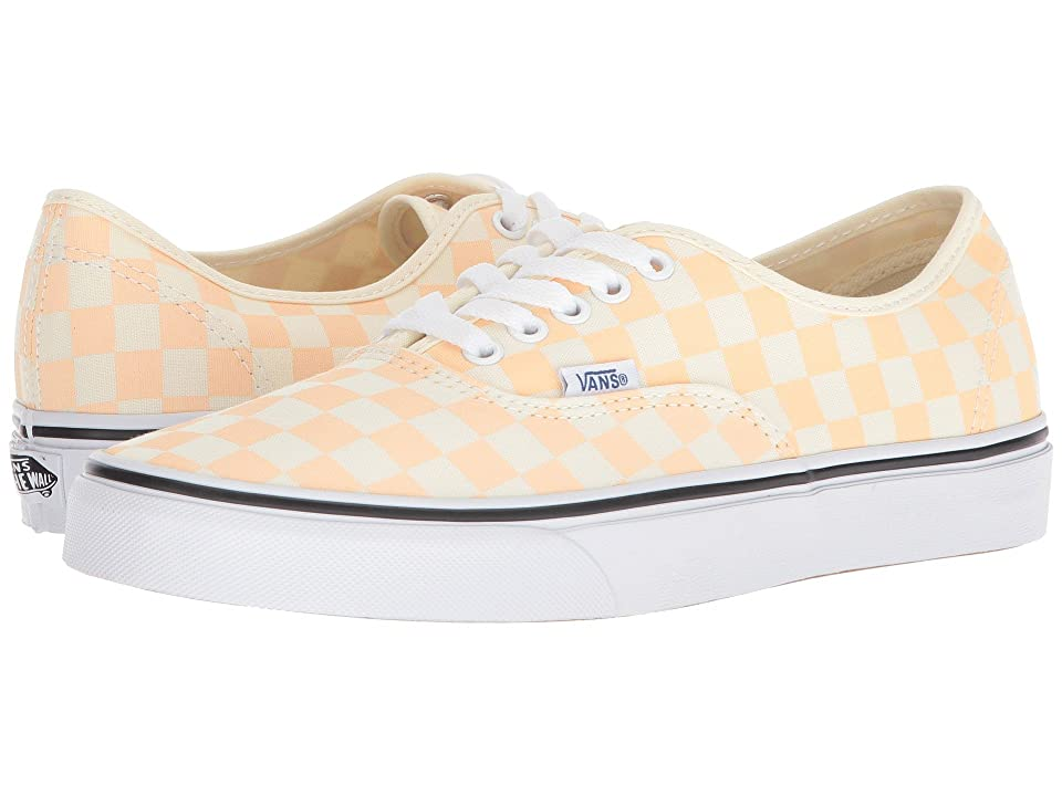 Vans Authentictm ((Checkerboard) Apricot Ice/Classic White) Skate Shoes
