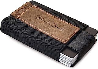 JAIMIE JACOBS Mini Wallet Nano Boy Minimalistic Slim Wallet Thin Credit Card Holder Men (Buffalo Leather Brown)
