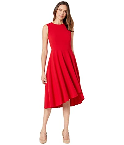 Calvin Klein Sleeveless A-Line Dress (Red) Women