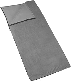 Outbound Fleece Sleeping Bag Liner   Cold Weather and Lightweight   Ideal for Backpacking, Camping and Hiking   Fleece, Gray