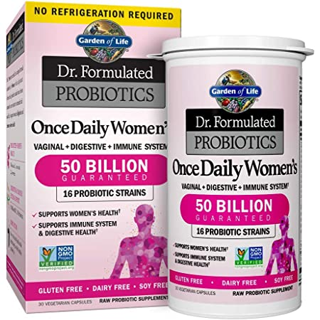 Garden of Life Probiotic Supplement Capsules for Women, Dr. Formulated Once Daily for Digestive Health, Shelf Stable, 30 Count