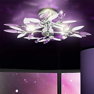 Led Cristal Chandelier Plafonnier,Élégant Chambre Lustre Plafonniers Éclairage Pour Salon Couloir Salle à Manger,Pétale En...