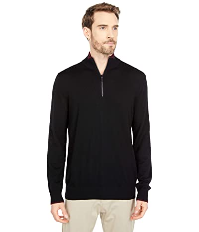 Michael Kors 1/4 Zip Sweater (Black) Men