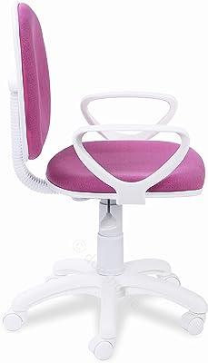 Adec - Dolphin, Silla de Escritorio giratoria, Silla Juvenil de Oficina, Color Rosa