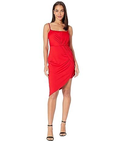 Susana Monaco Thin Strap Side Twist Dress (Perfect Red) Women