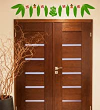 Rawpockets 'Mango Leaf Welcome Thoranam' Wall Sticker (PVC Vinyl, 0.99 cm x 120 cm x 20 cm, Brown)