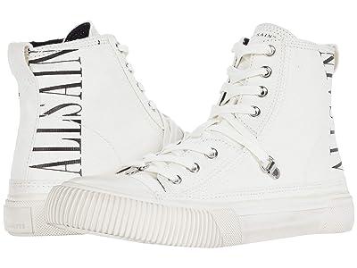 AllSaints Elena Stamp High-Top Sneaker (White Canvas) Women