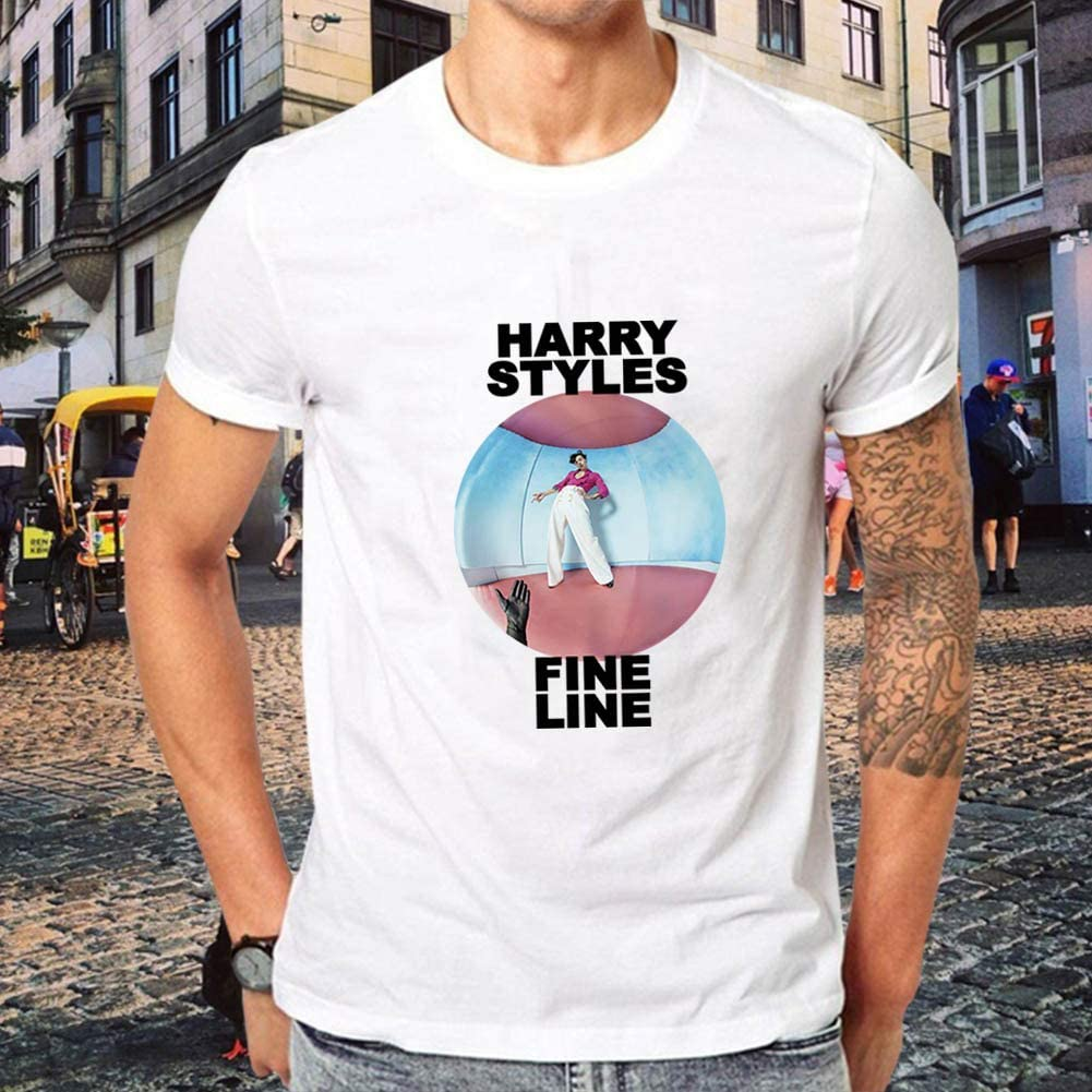 camiseta de algod/ón Camiseta de manga corta con estampado de Harry Styles Changping ultrasuave manga corta cuello redondo de moda unisex