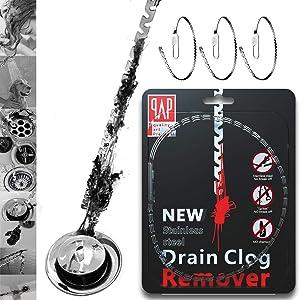 GAYISIC Drain Sink Snake Hair Drain Clog Cleaning Kit 10 PCS Hair Drain Remover Tool for Toilet Shower Kitchen Tube 10
