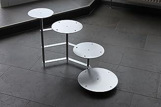 Taartstaander taartetagere aluminium 4 etages rond, bruidstaartstandaard Ø 20 26 32 cm