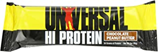 Hi Protein Bar - 34 g of Protein - 1 g of Sugar - 6.5g of Fat - Delicious Taste - Peanut Butter 85g bar Box of 16