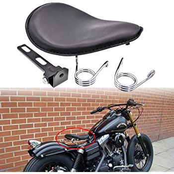 Negro Asiento Solo de Cuero Motocicleta Asiento Moto Con Placa Base para Bobber Sportster XL1200 883 48 VTX 1300 1800