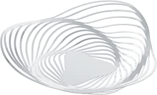 """Alessi""""Trinity"""" Fruit Bowl in Steel Colored with Epoxy Resin, White"""
