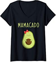 Womens Mamacado Funny pregnant Avocado V-Neck T-Shirt