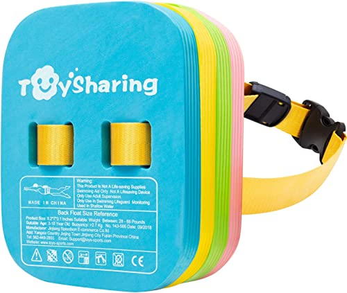 Toysharing Back Float Safety Swim Trainer Swimming Bubble Belt with Adjustable Split Layers Swim Bubbles Belts Secure...
