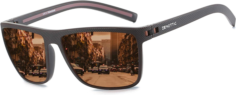 ZENOTTIC Opening large release sale Polarized Sunglasses for Men Lightweight Frame free shipping UV4 TR90