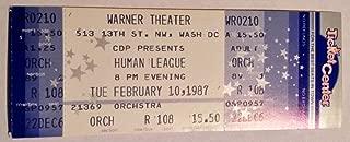 Human League Washington, DC 2/10/87 Unused Ticket