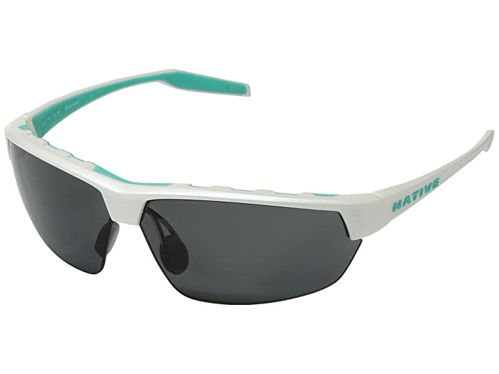 Native Eyewear Hardtop Ultra (Pearl White/Gray Polarized Lens) Sport Sunglasses