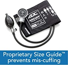 ADC Diagnostix 700 Pocket Aneroid Sphygmomanometer with Adcuff Nylon Blood Pressure Cuff, Adult, Black