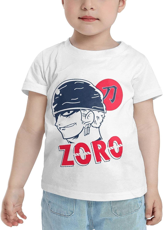 One Piece Roronoa Zoro Children's T-Shirt 2-6 Years Old Graphic Anime T Shirts Tops