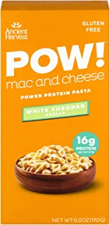 Ancient Harvest POW! Gluten Free Mac And Cheese Protein Pasta, White Cheddar Shells, 6.5 oz (Pack of 6)