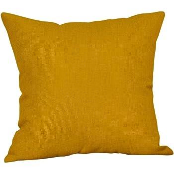 Fossrn Fundas Cojines 45x45 Modernos Geométricas Amarillo Fundas De Cojines para Sofa Jardin Cama Decoración del hogar Cuadrado Funda de Almohada (05): Amazon.es: Hogar
