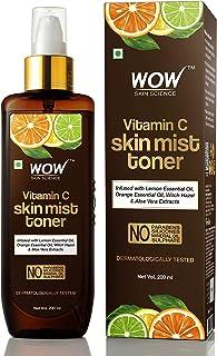WOW Skin Science Vitamin C Skin Mist Toner with Lemon Essential Oil, Orange Essential Oil With Hazel & Aloe Vera Extracts...