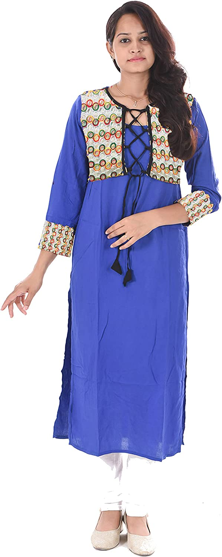 Lakkar Haveli Indian Women Long Dress Jacket Choli Tunic Royal Blue Frock Suit Ethnic Wedding Wear Maxi Dress Plus Size