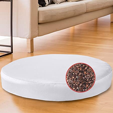 "Florensi Adjustable Meditation Cushion (16""x16""x5""), Large Velvet Meditation Pillow, Premium Yoga Pillow for Women and Men, Yoga Cushion, Buckwheat Meditation Cushions, Adjustable Height"