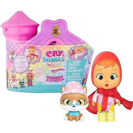 BEBÉS LLORONES LÁGRIMAS MÁGICAS Casa de Cuentos | Mini Castillo y su torre con 1 muñeca sorpresa y su mascota, que llora de verdad, con ropa y accesorios| Juguete para niñas y niños + 3 años