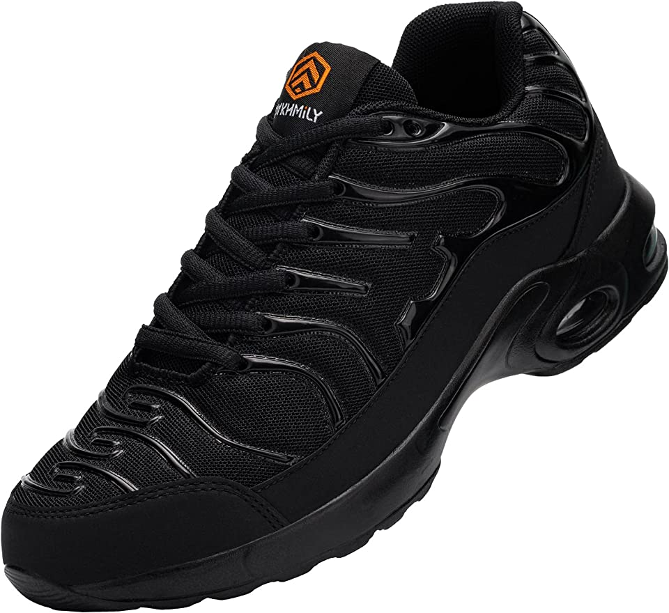 DYKHMILY Steel Toe Caps Trainers for Men Air Cushion Shoes Safety Shoes Lightweight Breathable Work Trainers