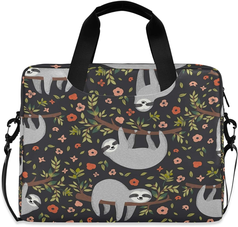 MLHlover Cute Japan's largest assortment Sloth Floral Tree 16 Shoulder Bag inch Max 63% OFF Carr Laptop