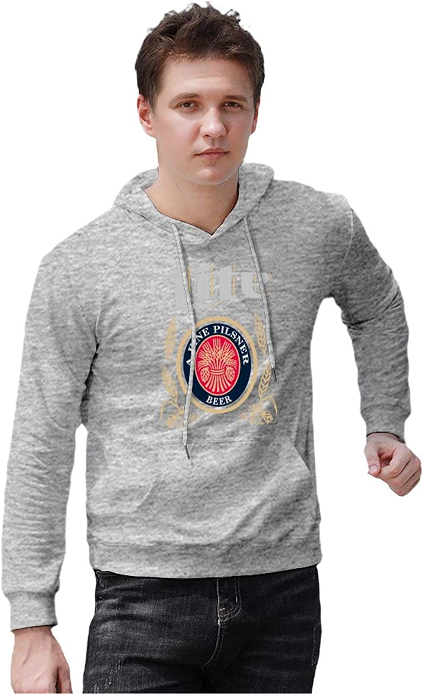 S-6XL Beer Gear Miller-Lite Mens Hooded Sweatshirt Loose Pullover Hoodies
