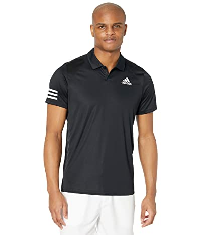 adidas Club 3-Stripes Polo (Black/White 2) Men