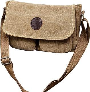 Fanspack Men Messenger Bag Fashion Retro Shoulder Bag Crossbody Bag Satchel Bag for Office