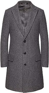 liming Men's Coat Autumn Big Size 100 Set Solid Color Medium Long Button Coat 6XL Dark Grey