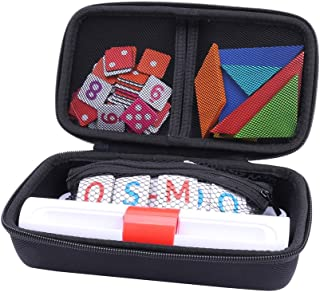 Storage Organizer Case for Osmo Genius Kit, fits OSMO Base/Starter/Numbers/Words/Tangram/Coding Awbie Game by Aenllosi (Black)