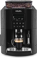 Krups Essential Machine à Café à Grain Machine à Café Broyeur Grain Cafetière Expresso Ecran LCD Nettoyage Automatique...