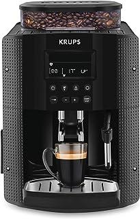 Krups Essential Machine à Café à Grain Machine à Café Broyeur Grain Cafetière Expresso Ecran LCD Nettoyage Automatique Bus...