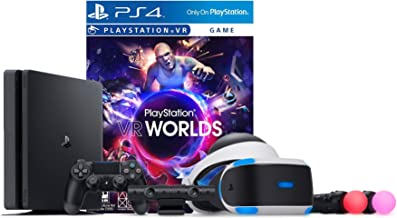 PlayStation VR Launch Bundle 2 Items: VR Launch Bundle, Sony PlayStation4 Slim 1TB Console- Jet Black