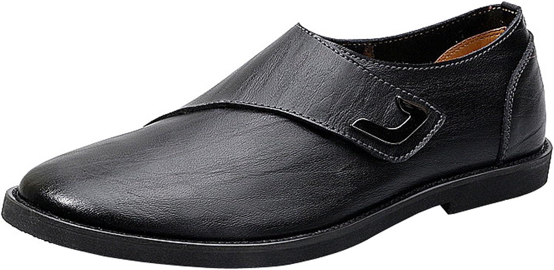 WSKEISP Mens Hook-Loop Driving Walking Classic Casual Oxford shoes