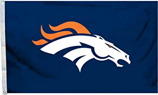 Fremont Die NFL Flag with Grommets, Denver Broncos, Logo